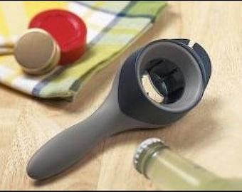 Tupperware Grand Opener Gadget  Black Grey Chef Series Multi Tool