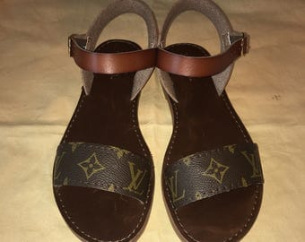 Handmade Louis Vuitton Accented Sandals