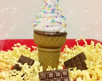 10 Ice Cream Cone Soap Partyfavors/ Handmade Soap/ Partyfavor/ Kids Gift Ideas/ Soap/ Cone/