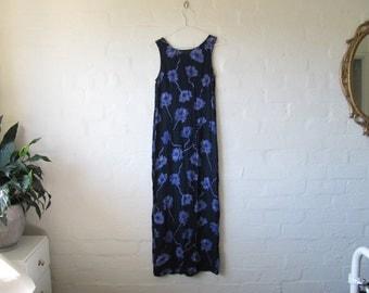 90s floral maxi dresss