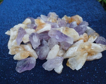 1/2 lb Citrine and Amethyst Crystal Points