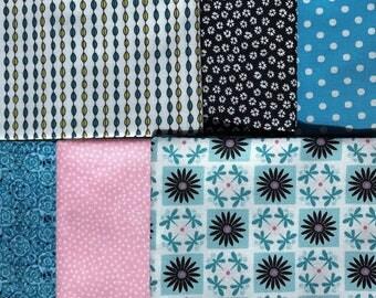 6 FQs, Fat Quarter Bundle, Dragonfly Fabric