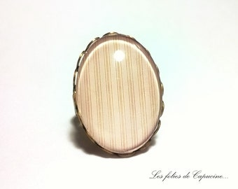 Ring Cabochon sewing •MAISON •