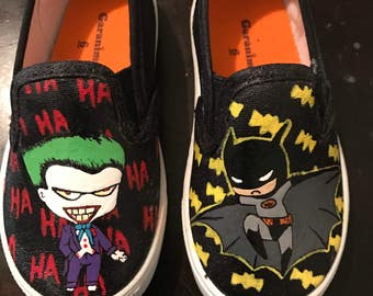 Joker and Batman Shoes