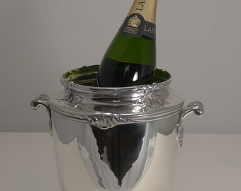 Fine Quality French Art Nouveau Silver Plated Wine Cooler c.1910