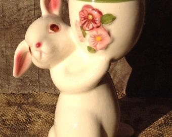 Vintage 1981 Avon Bunny candle holder-Vintage Avon-Vintage Bunny-Bunny Candle-1981 Avon