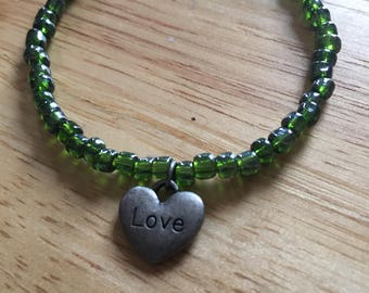 Metallic Green Love Bracelet