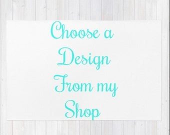 Custom Area Rug Choose a Design From My Shop Personalized Area Rug