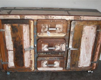 Sideboard Buffet industrial Reclaimed Wood Drawers and Doors