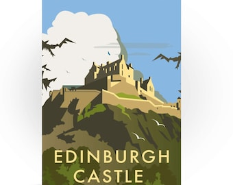 Edinburgh Castle Greeting Card, Travel Art Print, Scotland