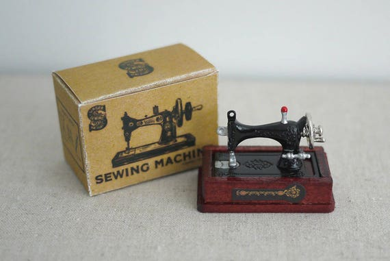 Miniature vintage Singer sewing machine