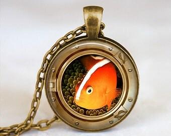 Clownfish Eyefish - Handmade Pendant Necklace