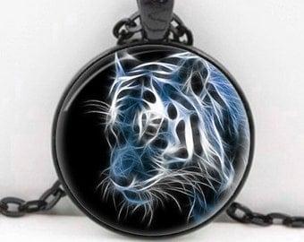 Fractal Tiger - Nature Animal Handmade Pendant Necklace