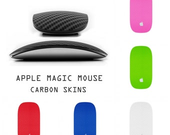 Apple Magic Mouse 1 I - Carbon Fiber 3D Look Top Skin Wrap Decal Cover Sticker Vinyl Accessory Protection & Style -9 Carbon Colors Available