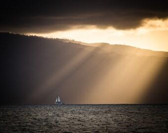 Molokai, Maui Sunset, Maui, Hawaiian Sunset, Sunsent Pictures, Hawaii, Home Art, Fine Art Photography | Molokai Sunset - Hawaii