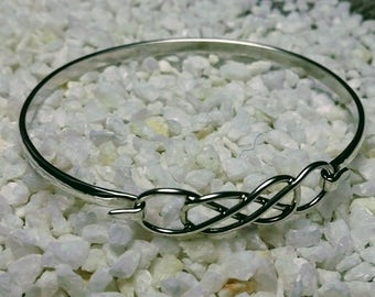 Celtic, sterling silver, double infinity bracelet