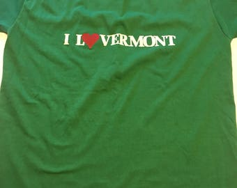 Awesome 80s Super Soft I Love Vermont T Shirt