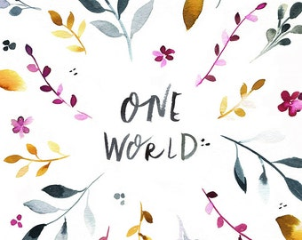 One World 5x7 Print