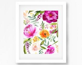 Spring Floral Pattern Print