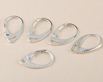 Genuine Sterling Silver Handmade Earring Hooks Leverback Earwire