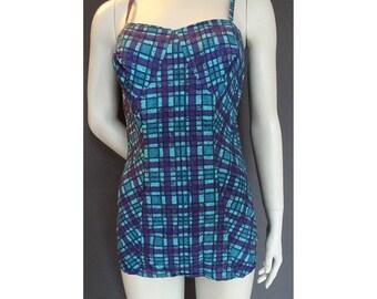 Vintage 1950s/50s Jantzen Cotton SWIMSUIT/Bathing Costume Pin Up