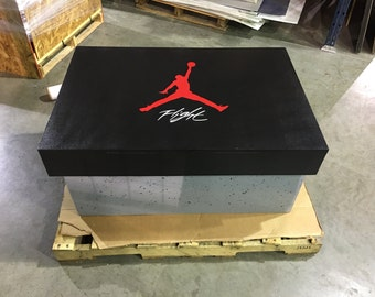 Giant Air Jordan Shoe box Storage Cement Print