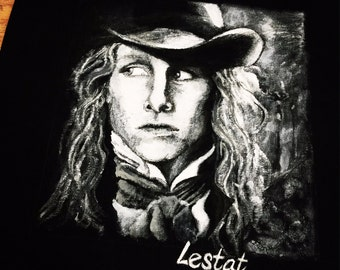 Lestat the vampire painted on a tote bag for an Anne Rice fan!