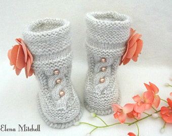 Crochet Baby Shoes Knitted Baby Booties Baby Girl Newborn Baby Gift Infant Girl Booty Baby Winter Clothes Babies Crochet Baby Uggs
