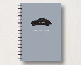 Personalised Car Lover's Journal or Notebook