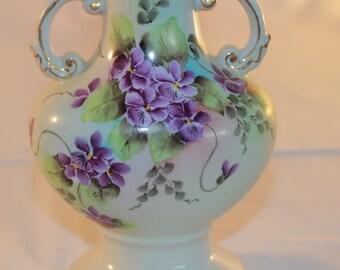Hand Painted Bavarian Porcelain Vase