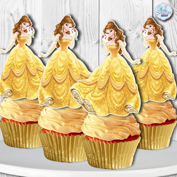 Beauty and the Beast Printable Cupcake Toppers