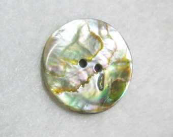 Vintage Iridescent MOP Button Small