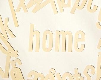 Vintage letters alphabet.Sign makers sign painter letters lower case.Wall decor.Nursery decor.ABC.Home decor.Vintage cardboard letters