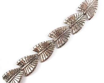 Signed 'Napier' leaf bracelet