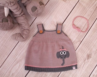 Baby dress Knit Dress tunic Elephant
