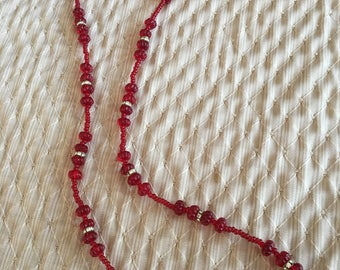 Vintage Miriam Haskell bead and rondelle necklace