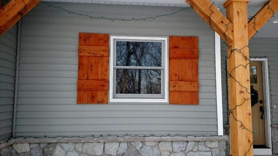 Rustic Cedar Shutters / Exterior Home Decor