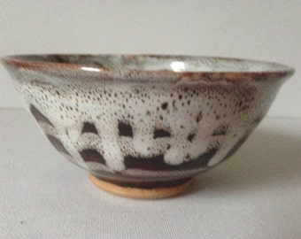 Small Pottery Bowl, Brown Pottery Bowl, Pottery Bowl, Drip Glaze Bowl, Small Ceramic Bowl, Small Bowl, Hand Made Pottery, Glazed Bowl, Bowl