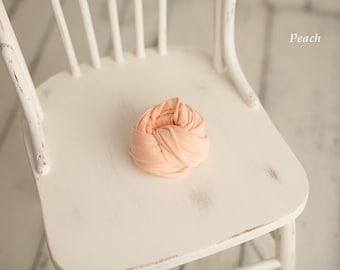 Newborn jersey stretch wraps - Peach