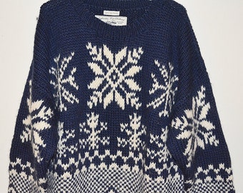 Knitted Snowflake Sweater