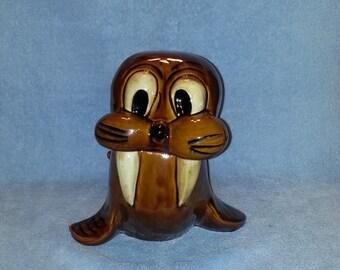 Cookie Jar - Baby Walrus Theme - Treat Jar 1960s
