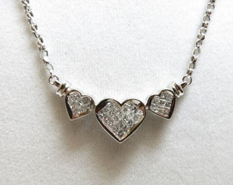 diamond heart pendant necklace white gold 14k