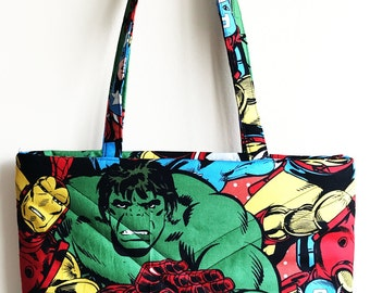 COMIC Tote Bag, comic bag, comic tote, purse, shoulder bag, comic book bag, colorful bag, comic bag, tote bag