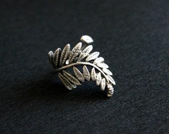 Leaf Ring, Mimosa Ring, Boho Ring, Antique Silver Ring, Ethnic Ring, Nature Ring, Bohemian Ring, Kuchi Ring, Gypsy Ring, Boho Silver Ring