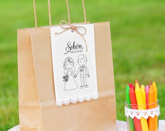 Gift bag to the self-filling titled children Wedding guest gift