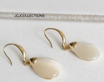 Opal Waterdrop Earrings, Simple Earrings, Bridal Earrings