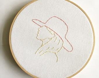 Lady Gaga Fan Art - Embroidery Hoop Art - Joanne Album