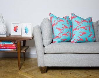 Lobster Pattern Cushion