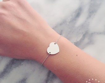 Chain bracelet with 925 Silver heart