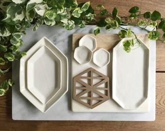 LAST CHANCE - Hexagon Designer Hot Plates (Trivet)